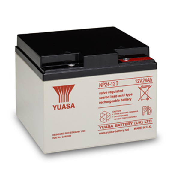yuasa np24 12 12v 24ah sealed lead acid battery. Black Bedroom Furniture Sets. Home Design Ideas