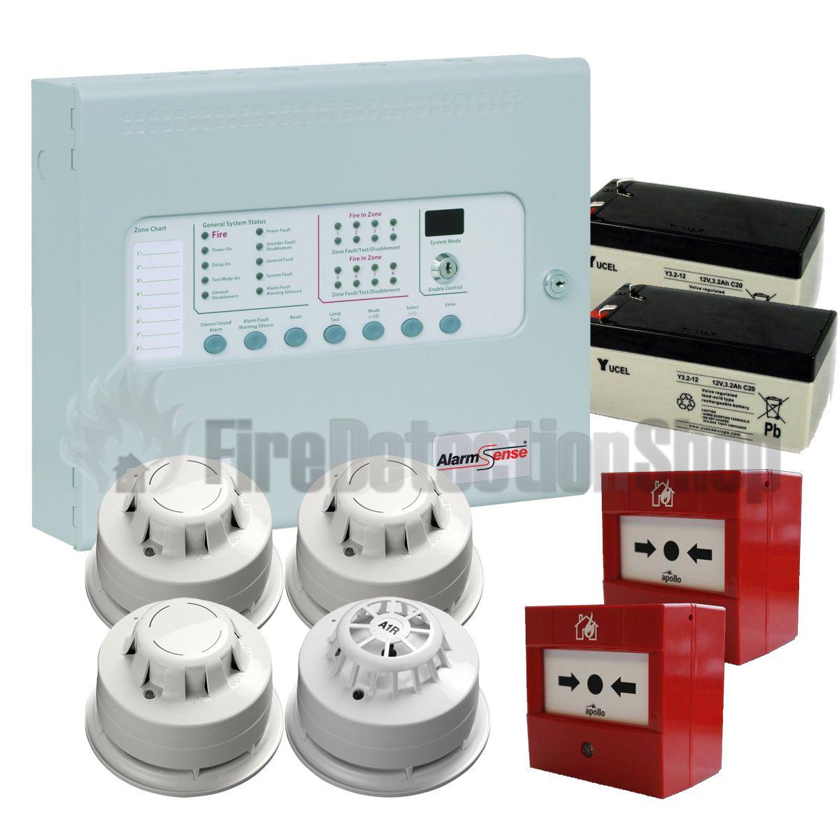 Kentec 2 Zone Alarmsense Bi-Wire Fire Alarm Kit