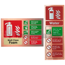 Prestige Copper Extinguisher ID Signs