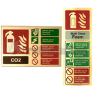 Prestige Gold Extinguisher ID Signs