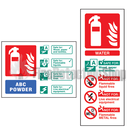 Rigid Plastic Extinguisher ID Signs