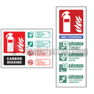 Self Adhesive Extinguisher ID Signs