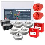 C-Tec 4 Zone Fire Alarm Conventional Kit - Apollo