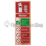 Prestige Portrait Antique Copper Water Fire Extinguisher Sign