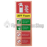 Prestige Portrait Antique Copper AFFF Foam Fire Extinguisher Sign