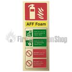 Prestige Gold Portrait AFFF Foam Fire Extinguisher Sign