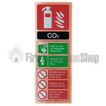 Prestige Portrait Antique Copper Co2 Fire Extinguisher Sign