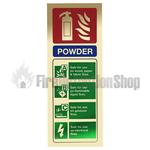 Prestige Gold Portrait ABC Dry Powder Fire Extinguisher Sign