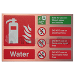 Prestige Landscape Antique Copper Water Fire Extinguisher Sign