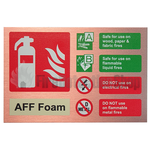 Prestige Landscape Antique Copper AFFF Foam Fire Extinguisher Sign