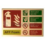 Prestige Gold Landscape AFFF Foam Fire Extinguisher Sign