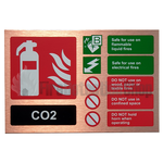 Prestige Landscape Antique Copper Co2 Fire Extinguisher Sign