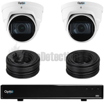 Vista Optio 8 Camera Varifocal Lens IP CCTV Kit