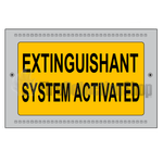Kentec K27202 Extinguishant System Activated Illuminated Sign