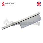 Arrow 324 Cam Action Slide Arm Door Closer - Silver