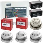 C-Tec 8 Zone Alarmsense Bi-Wire Fire Alarm Kit (c/w Sounder Beacons)