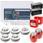 C-Tec 8 Zone Fire Alarm Conventional Kit - Apollo (c/w Sounder Beacons)