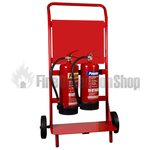 Double Fire Extinguisher Trolley With Backboard