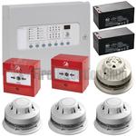 Kentec 4 Zone Alarmsense Bi-Wire Fire Alarm Kit (c/w Sounder Beacons)