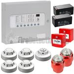 Kentec 4 Zone Fire Alarm Conventional Kit - Apollo (c/w Sounder Beacons