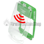 Vimpex SG-FS-G Smart+Guard Flush Mount Call Point Cover w/ Sounder (Green)
