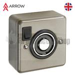 Arrow Electromagnetic Door Holder - Wall Mounted, Satin Nickel Plate