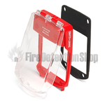 Vimpex SGE-F-R Smart+Guard Waterproof Flush Mount Call Point Protective Cover (Red)