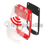 Vimpex SGE-FS-R Smart+Guard Waterproof Flush Mount Call Point Protective Cover w/ Sounder (Red)