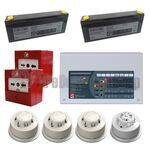 C-Tec 8 Zone Alarmsense Bi-Wire Fire Alarm Kit