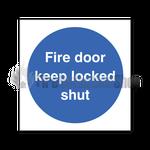 Keep Locked Shut Sign Self Adhesive