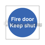Rigid Plastic Fire Door Keep Shut Sign