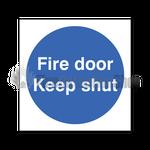 Rigid Plastic Fire Door Keep Shut Sign