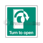 Turn Right To Open Sign