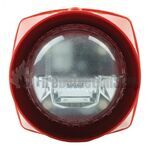 Gent S3-S-VAD-LPW-R Sounder with Standard Power VAD (red body/white lens)