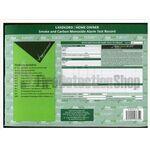 Smoke And Carbon Monoxide Alarm Test Certificates