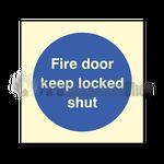 Fire Door Keep Locked Shut Sign (self adhesive)
