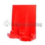 Double Red Modular Flat Pack Fire Extinguisher Stand