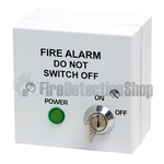 Fire Alarm Mains Isolator with Keyswitch - White