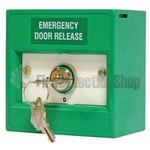 KAC Green 2 Position Emergency Door Release Keyswitch Call Point (Key Trapped)