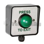RGL-WP EBGBWC02/PTE Weatherproof Green Dome Exit Button