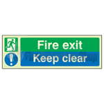 Fire Exit Sign - Keep Clear