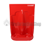 Double Plastic Red Fire Extinguisher Stand