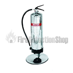 Single 6kg / 6ltr Stainless Steel Metal Extinguisher Stand