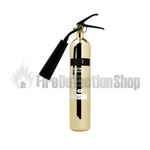 Contempo Polished Gold 2Kg Co2 Fire Extinguisher
