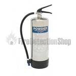 Contempo Polished Stainless Steel 6Kg ABC Dry Powder Fire Extinguisher