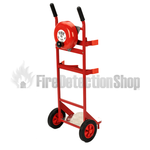 Double Fire Extinguisher Trolley With Rotary Alarm Hand Bell