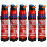 600g BC Dry Powder Fire Extinguishers x5