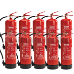 9Ltr Water Fire Extinguishers x10
