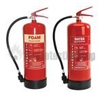 9Ltr AFFF Foam Fire Extinguisher & 9Ltr Water Fire Extinguisher