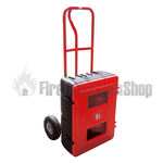 Fire Extinguisher Trolley Complete With Double Cabinet